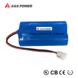 6.4V 1100mAh 18650 Rechargeable LiFePO4 Lithium Battery Pack