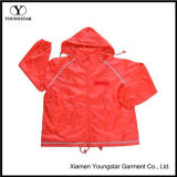 Women Polyester Waterproof Windbreaker Jacket with AC Coating