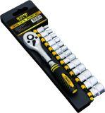 "Hand Tools 14PCS Cr-V Steel Satin Chrome Plated 1/4"" Drive Socket Set"