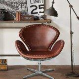 American Retro Metal Revolving Leisure Swan Chair