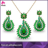 High Quality Costume Jewelry Gold Plated Zircon Bridal Jewelry Set