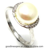 Factory Price 925 Silver Ring with Pearl (R10180)