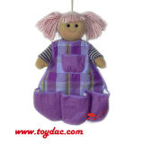Cotton Doll Storage Pouch Wall Hanging