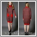 Hot Sale Fashion Women Winter Wool Cashmere Knitted Sweater Dress