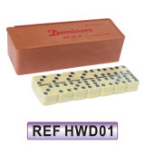 28 Sets Double 6 Ivory Dominoes in Plastic Box (HWD01)