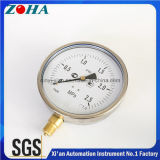 6 Inch Ss Case Brass Connector Shakeproof Pressure Gauges with 0.25MPa IP65 Protection Degree