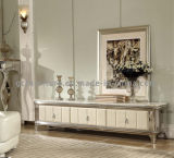 Modern Living Room Furniture White Marble Wooden TV Stand