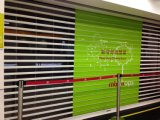 Transparent Clear Crystal Polycarbonate Roller Door / Roller Shutter Door / Rolling Shutter Door