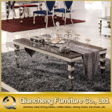 4 Seater Stainless Steel Coffee Table