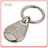 Shiny Nickel and Matte Nickel Laser Engraving Metal Key Chain
