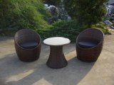 Rattan Lounge Round Sofa Coffee Table Garden Outdoor Furniture (FS-2544+2545)