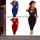 Fashion Sexy Women Embroidery Prom Dress (T60609)