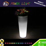 Plastic Colorful LED Flower Pot for Party Home Office