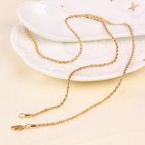 Fashion 18k Gold Color Double Helix Neutral Necklace (41155)