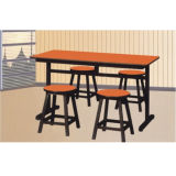 Red Restaurant Room Table and Chairs Wood with High Quality