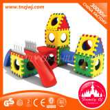 Cube Block Combined Indoor Plastic Play Toy with Slide