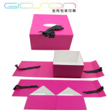 Paper Board Gift Packaging Box/ Folding Box with Ribbon