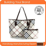 Newest Classical Plaid Trend PU Lady Handbag