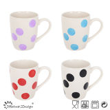 14oz Hand Painted Mug with Glazed Colorful Dots Design