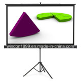 Portable Projector Screen Free Standing Tripod Foldable Screen