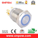 Onpow 19mm Metal Pushbutton Switch (LAS1GQ-11E/B/12V/S, CE, CCC, RoHS)