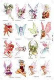 Bulk Vending Flat-Pack Temporary Tattoos (FT01, Fairies Series)