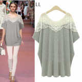 Factory Price Plus Size Cotton Fashion Design Lady Blouse