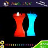 Bar Furniture Plastic Illuminated RGB LED Cocktail Table