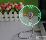 Cheap Price and High Quality USB Fan with LED Clock