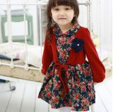 2015 Autumn Wholesale Lovely Layered Flower Dress for Kids Girl