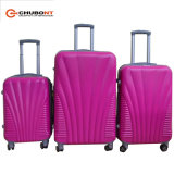 Chubont Hot Sell Zipper Frame 4 Wheels ABS Suitcases with Combination Lock