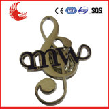 Factory Direct Sale Custom Metal Pin Badge/Music Shape Badge