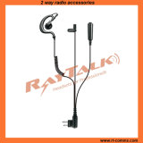 3-Wire G Shape Surveillance Earpiece for Two Way Radios EM-200140C