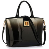 New Fashion Silver Patent Two-Tone Women Handbag