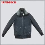 Men′s PU Jacket with Good Quality Fashion Coat