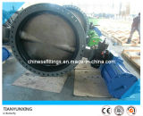 NBR Seat Carbon Steel Double Flanged U Type Butterfly Valve