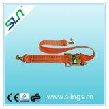 Sln 5t*8m Ratchet Tie Down Strap with Double J Hooks Ce GS