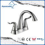 "Modern House Double Handle Bathroom 4"" Sink Faucet (AF0103-6C)"