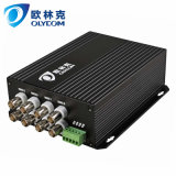 8CH Video + 1CH RS485 PTZ Data Optical Video Converter