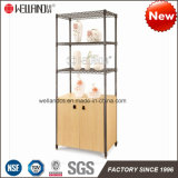New Living Room or Office Furniture 2 Wooden Doors Cabinet with Upper Open Display Shelves