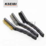 3PCS Stainless Steel Wire Brush Set with PVC Handle