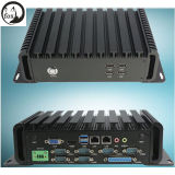 Fanless Mini PC with Intel I3 3110m on-Board Gigabit LAN Dual Mini-Pcie Slots DC Power in