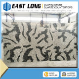 Black Color Marble Vein Quartz Stone Bathroom Vanity Countertop
