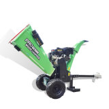 15HP Towable 420cc Gas Engine Log Branch Wood Chipper Shredder/Crusher with TUV Ce