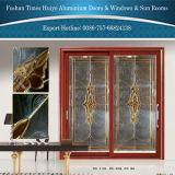 1.0mm~2.0mm Aluminium Hanging Door with Inlaid (Mosaic) Glasses