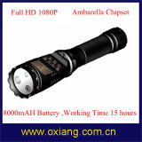 2015 Multifunctional 1080P Police Law Enforcement Flashlight DVR Support English/Russian