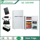 38L Capacity 60W Power Double Doors up-Freezer Solar Upright Refrigerator