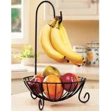 Banana Tree Fruit Basket Wrought Iron Space-Saving Holder
