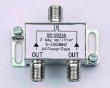 2 Way 5-2500MHz Satellite TV Splitter (SHJ-D202SA)