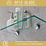6mm Clear Float Bathroom Shelf Tempered Glass with Polished Edge